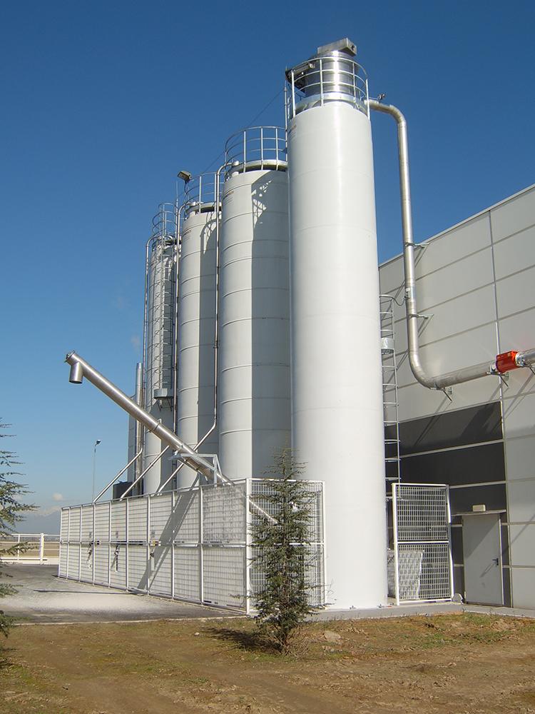 Силосы бункеры из стали, алюминиево-магниевого сплава для хранения сырья.Наш монтаж.